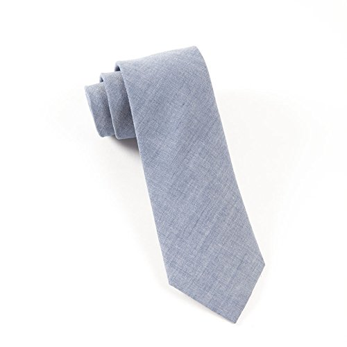 The Tie Bar 100% Cotton Warm Blue Classic Chambray 3 Inch (Chambray Tie)