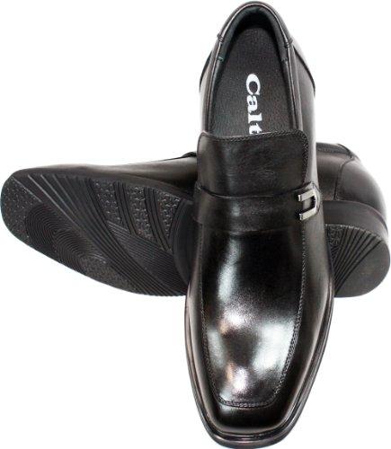 G-CALTO 5828-(3 7,62 cm, altezza Inches)-Tappetto aumentare ascensore, in pelle, colore: nero-Vestito e scarpe