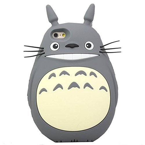 "iPhone 6S Case, MC Fashion Lovely 3D Cute Cartoon Totoro Soft Silicone Protective Case For Apple iPhone 6S 4.7"" (2015) & iPhone 6 4.7"" (2014) (Gray)"