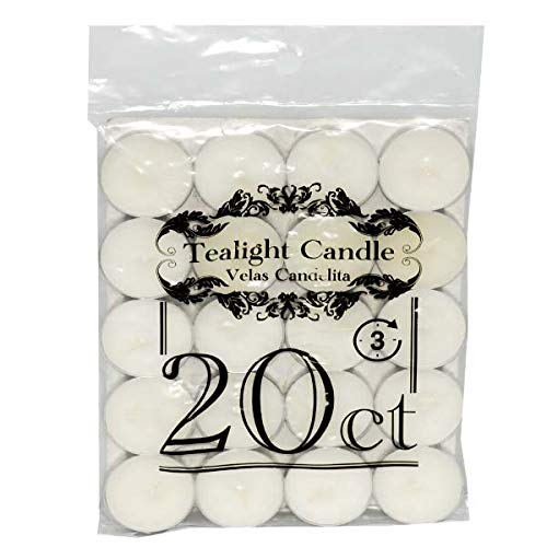 DollarItemDirect Tealight White Candles 20ct, Case of 48