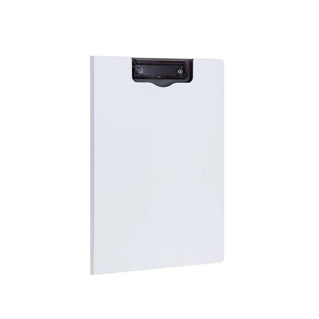DYW Classic Folder Vertical Folding Board Clamp, Sturdy and Durable, PP Material, Simple Business Rigidity, Stylish Folding Plate Clamp Expanding File Folder (Color : White, Size : 5 Pack)
