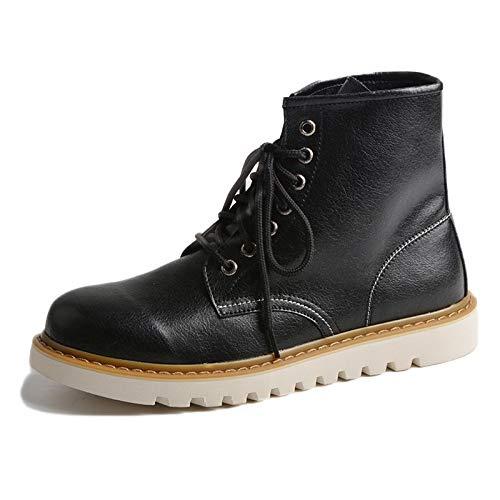 40 Pelle Alta Nera Stivali in Classica Adulti Antinfortunistici Dr Black Stivali Stivali Inverno Autunno E Pelle Invernali Stivali Martens xFORUWwY
