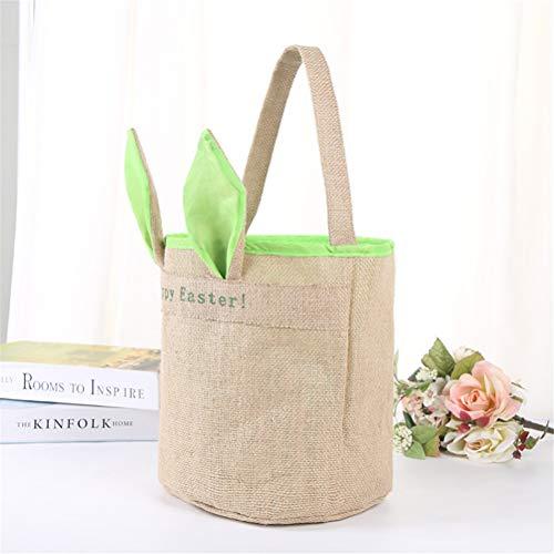 COMShow Easter Bunny Bags Kids Rabbit Basket Reusable