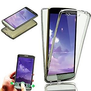 Carcasa LG G6, Caso Funda LG G6, JAWSEU LG G6 Carcasa Caso Cover 360 Grados Protección Completa Skin Frente y Detrás Funda Ultra Delgado TPU Silicona ...