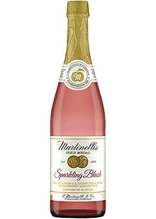 Amazon Com Martinelli S Sparkling Blush 25 4 Oz Bottle Grocery Gourmet Food