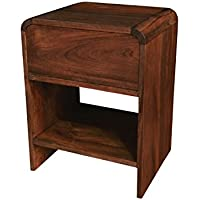 NES Furniture Nes Fine Handcrafted Furniture Solid Teak Wood Patrick Side Table / Nightstand - 24, 24 inch
