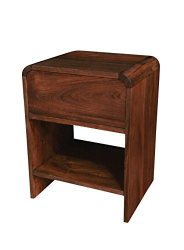- NES Furniture Nes Fine Handcrafted Furniture Solid Teak Wood Patrick Side Table / Nightstand - 24
