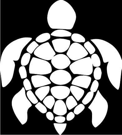 Sea Cottage (Honu Sea Turtle Decal White Vinyl Decal Sticker Car Window Bumper White 5.5-Inches Premium Quality UV Resistant Laminate JMM061)