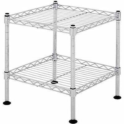 Muscle Rack 2 Durable Chrome Shelfs Storage wire Shelving Units