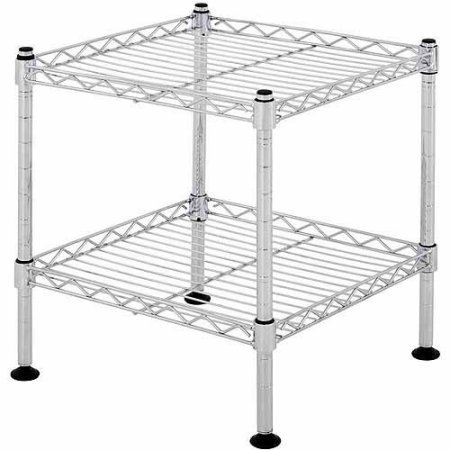 Muscle Rack 2 Durable Chrome Shelfs Storage wire Shelving Units (Crown Metal Works Barn Door compare prices)