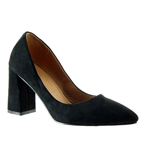 Angkorly - damen Schuhe Pumpe - Dekollete Blockabsatz high heel 8.5 CM