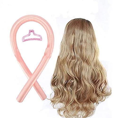 HXS Tik Tok Heatless Hair Curlers, Silk Ribbon Hair Rollers, No Heat Curls Headband For Long Medium Hair, Overnight Hair Rollers Curler for Women Girls, DIY Hair Styling Kit