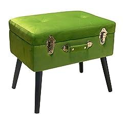 Pusher Coffre arrière Repose-Pieds, Bois, Vert, 41x 30x 58cm