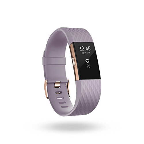 Fitbit Charge 2 Heart Rate + Fitness Wristband, Special Edition, Lavender Rose Gold, Small