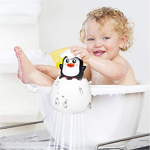 Baby Bath Toys Fun Rain Cloud Squirt Egg Bathtub Water Toys with Hidden Penguin Pool Floating Toys for Toddler Boys and Girls Shower Gifts for Kids for Bathtub or Swimming Pool Play