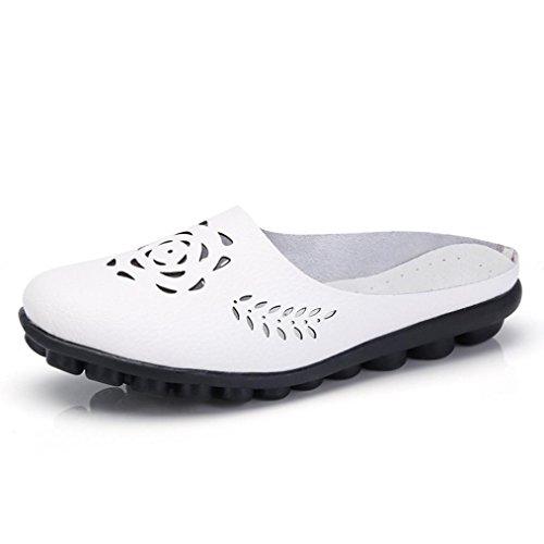 De ❤Tobillera ALIKEEY Zapatos Blanco On Casual Planas Mujer Zapatos Suaves Sandalias ❤Sandalias Slip 8n87rw5vqx