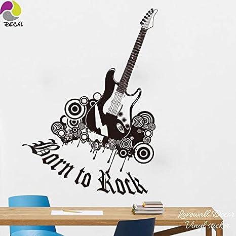 JXND guitarra rock pegatinas de pared clásico pop jazz rock banda ...
