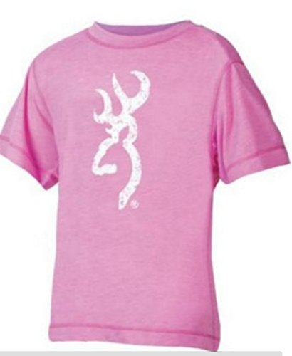 BROWNING GIRLS PERFORMANCE TECH S/S (XLARGE, HEATHER BUBBLEGUM)