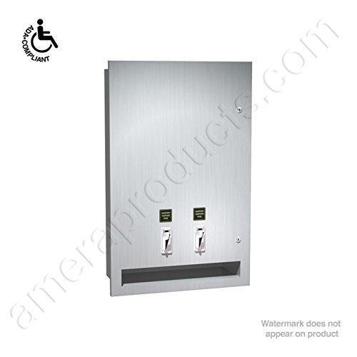 Asi 04684 Recessed Sanitary Napkin and Tamponベンダー   B0038A28WM