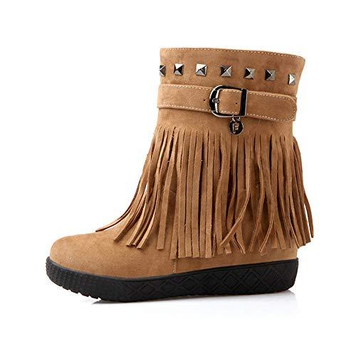 YIWANGO YIWANGO YIWANGO Brown di di di Mukluk Caviglia Stivali delle Stivali Donne Donna Shorty HAwxHCUq4