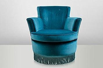 Casa padrino luxus art deco lounge sessel blau luxury collection