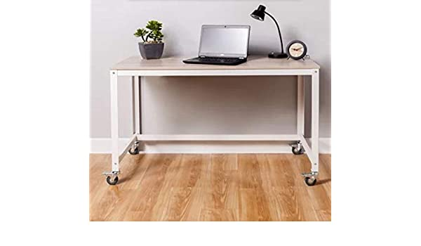 Amazon.com: Wila-Writing Desk-Light Oak Wood Gray Metal Legs ...