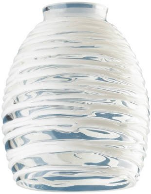 "Westinghouse 8131400 2-1/4"" Clear & White Rope Glass Fitter"