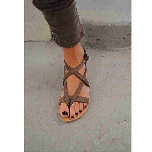 XXM Playa de de Base Casual Am con de Mujer a para y Dise Campo Elegante Romana en Plana Mujer Sandalias Zapatos y Europa Sandalias o de y Playa para Sandalias 8qABEgE