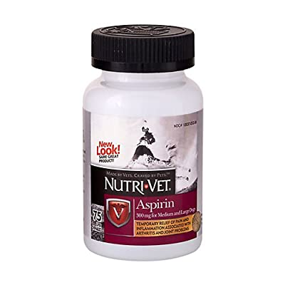 Nutri-Vet K9 Dog Aspirin for Large Dogs 75ct