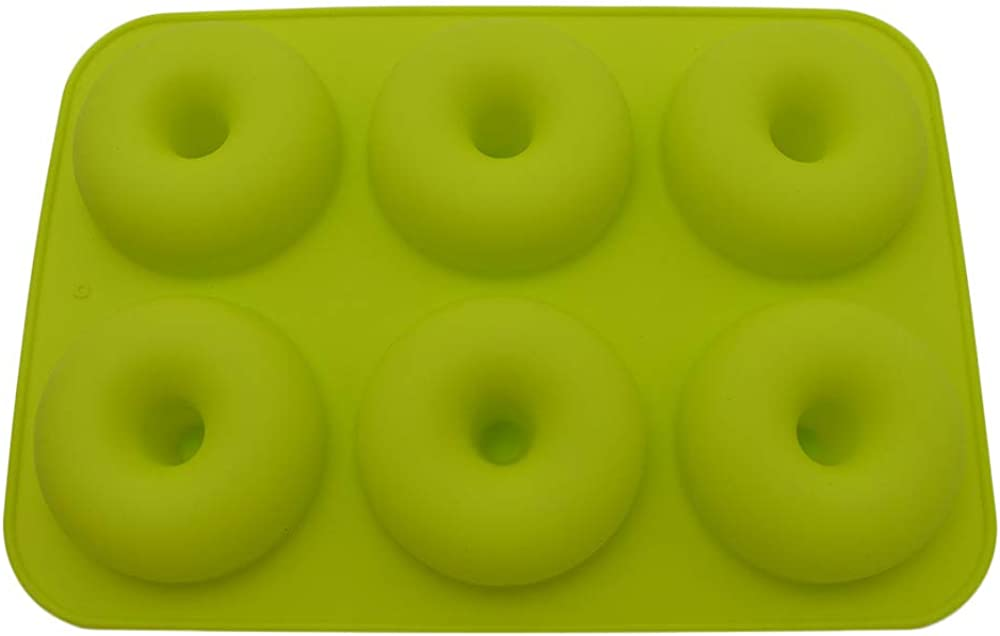Farmerl 6-Cavity Silicone Donut Baking Pan Non-Stick Mold Dishwasher Decoration Tools