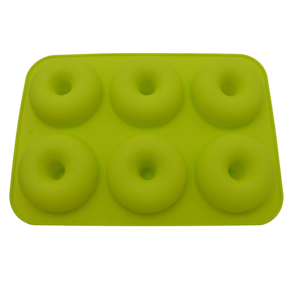 BeautyShe 6-Cavity Silicone Donut Baking Pan/Non-Stick Donut Mold, Dishwasher, Oven, Microwave, Freezer Safe
