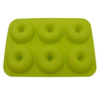 6-Cavity Silicone Donut Baking Pan Non-Stick Mold Dishwasher Decoration Tools