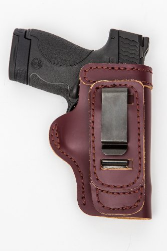 Ruger LCR WITH LASERMAX CENTERFIRE Right Hand Pro Carry Shirt Tuck Gun Holster MAHOGANY