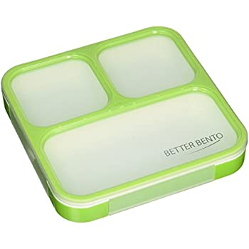 Better Bento Lunch Box - Great for School, Portion Control, and Meal Prep, Green