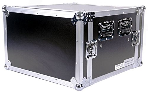 DEEJAY LED TBH6UADSM21 Fly Drive Case 6u Space Shock Mount Amplifier Case - 21-Inch Body Depth