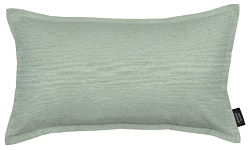McAlister Savannah Heavy Woven Linen Pillow Cover Sham   Textured Semi-Plain Canvas   12x18 Duck Egg Blue Turquoise Decorative Lumbar Zip Pillowcase Cushion Case   Solid Accent, Modern Decor