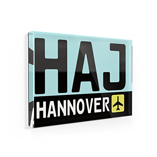 Buy now Fridge Magnet Airport code HAJ / Hannover country: Germany - NEONBLOND