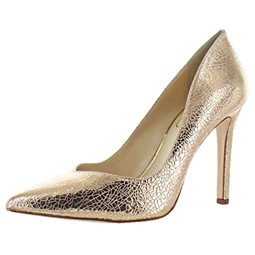 Jessica Simpson Women's Cylvie Metallic V-Cut Pumps Heels Shoes Pink Size 8 ()