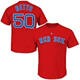 OuterStuff Mookie Betts Boston Red Sox #50 MLB Youth Player T-Shirt Red