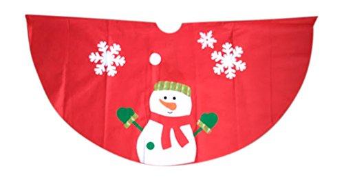 - Fun & Festive Holiday Character Felt Tree Skirt (Snowman)