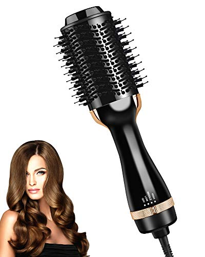 Hair Dryer Brush, Hot Air Brush Styler and Dryer, One Styling Step Hair Dryer and Volumizer for Women, Multifunctional Blow Dryer Brush for Drying,Straightening,Curling | ALCI Safety Plug