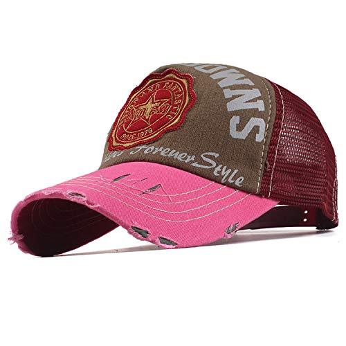 女性メッシュ 野球帽 男性 夏 帽子,トランスペアレント,56TO59CM