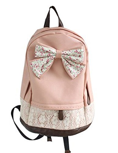 Caroata Casual Style Korean Lace Floral Leisure Canvas Backpack Rucksack