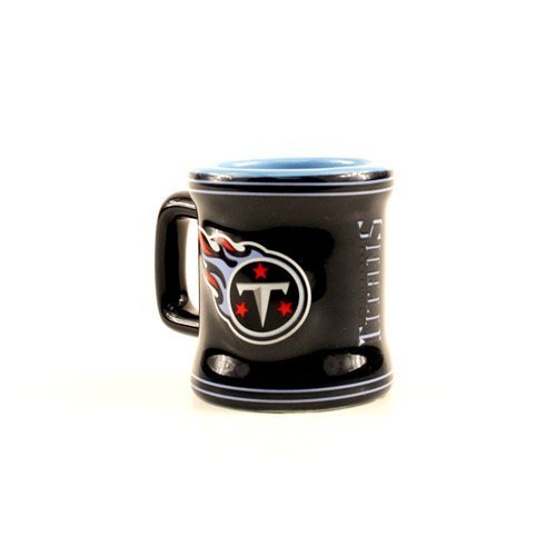 Tennessee Titans NFL Licensed Sculpted Ceramic Mini Mug Style Shot Glass (2 Oz.)