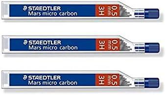 STAEDTLER Lot de 3 Etuis de 12 minesMars micro carbon 0,5 mm 3H