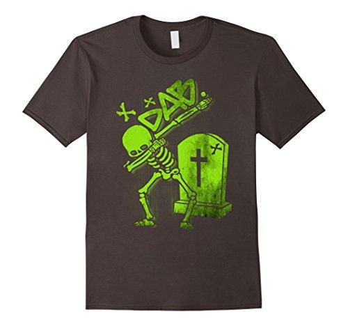 [Mens Dabbing Skeleton Shirt Dab Hip Hop Skull Dabbin Glow Effect XL Asphalt] (Skeleton Costume Pose)