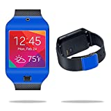 samsung galaxy gear 2 neo case - MightySkins Protective Vinyl Skin Decal Cover for Samsung Galaxy Gear 2 Neo Smart Watch wrap sticker skins Solid Blue