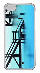 taoyix diy iPhone 5C Case, Personalized Custom Stairways Towards Water for iPhone 5C PC Clear Case