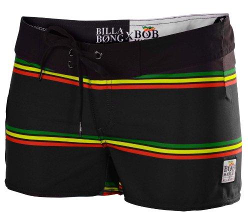 Billabong Juniors Bob Marley Smile Jamaica Board Shorts-(RTA)Black-1