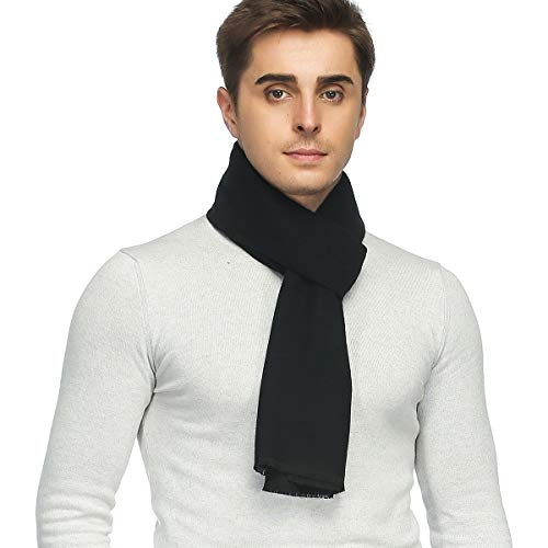 Mens Classic Cashmere Winter Warm Scarf - PoilTreeWing Long Soft Tassel Scarf